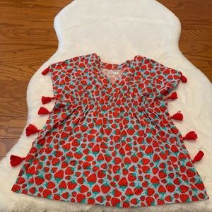 Jack & Cat Strawberry Pom Pom Dress-Tunic size 5T
